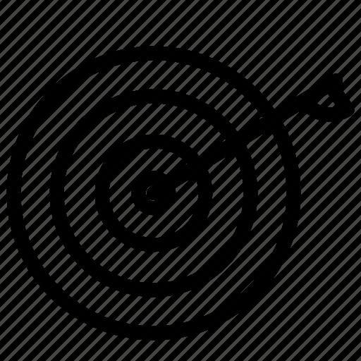 aim, arrow, business, marketing, target icon