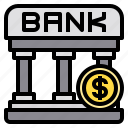 bank, banking, cash, coin, money icon