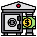 banking, box, money, safety, security icon