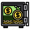 box, cash, money, safety, security icon