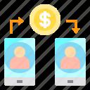 cash, mobile, money, smartphone, transfer icon