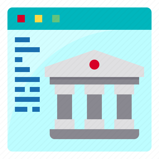 bank, banking, cash, money, web icon