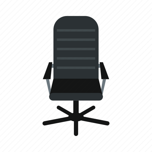 chair, furniture, leather, modern, office, seat, sit icon