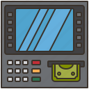 withdrawal, machine, atm, money, cash icon