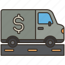 truck, transportation, money, security, safety icon