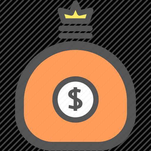 bank, business, cash, dollar, financial, money, sack icon