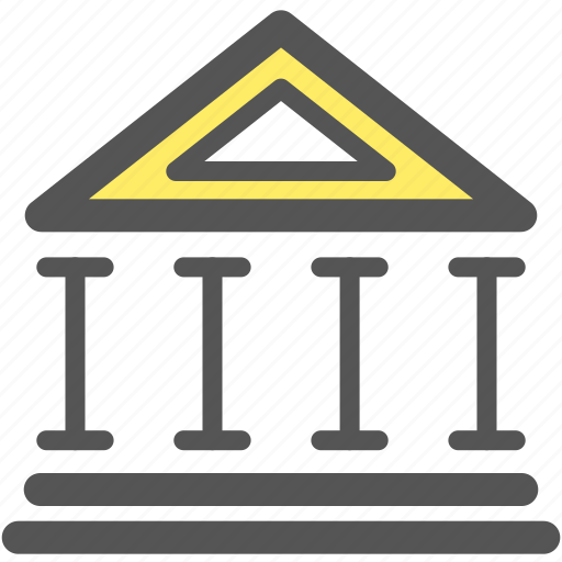 bank, building, business, dollar, estate, financial, office icon