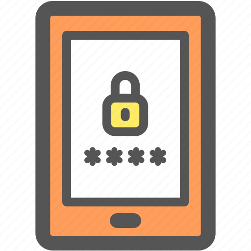 lock, log in, mobile, phone, protection, security, smartphone icon