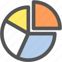 analytics, chart, graph, math, pie chart, report, statistics icon