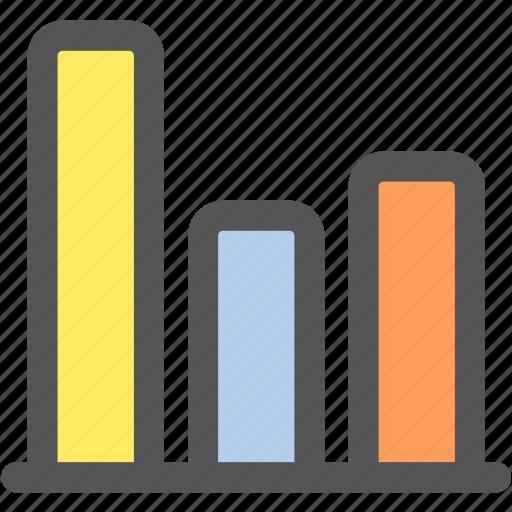 analytics, bag graph, business, chart, graph, math, statistics icon