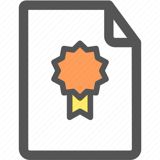 authentication, award, certificate, prize, winner icon