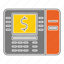 atm, banking, card, device, machine, money, payment icon