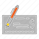 bank, banking, cheque, instrument, money, payment icon
