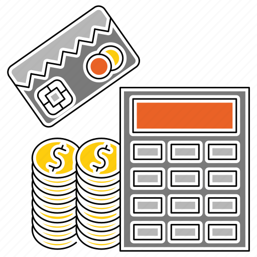 banking, calc, calculation, card, financial, math, money icon