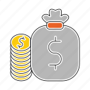 bag, banking, cash, currency, money, payment icon