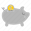 bank, banking, cash, money, piggy, save icon