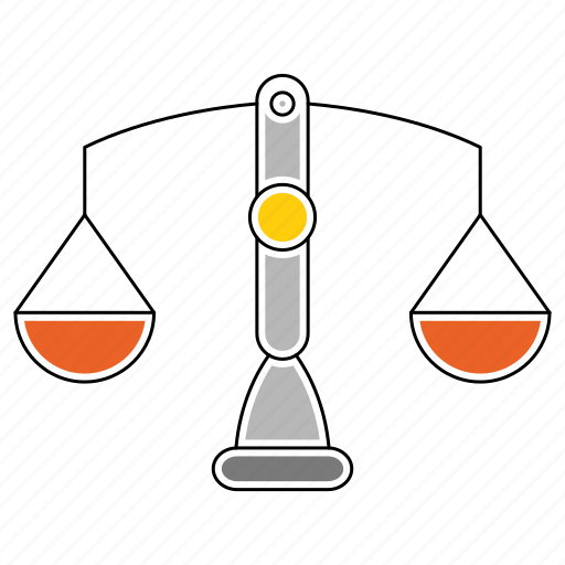banking, finance, law, legal, scales, tool icon