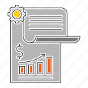 banking, diagram, financial, paper, report, survey icon