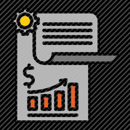 banking, diagram, financial, paper, report, survey icon