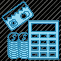 accounting, banking, calculation, calculator, cash, dollar icon