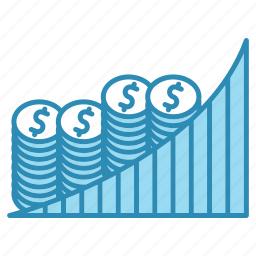 analytics, banking, business, chart, graph, growth, money icon
