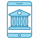 banking, currency, device, dollar, mobile, money icon