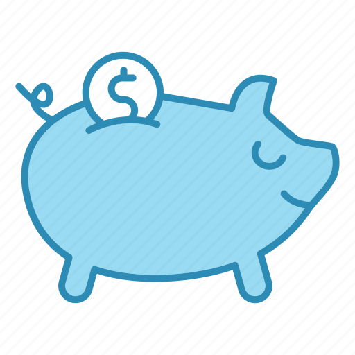 bank, banking, business, cash, office, piggy icon