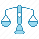 balance, banking, business, law, scales icon