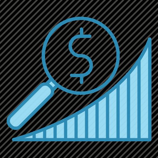 banking, diagram, graph, market, research icon