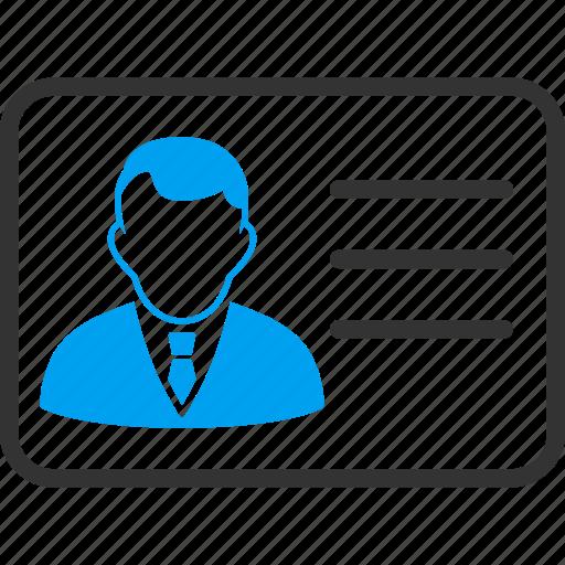 avatar, card, client account, person, profile, user account, user data icon