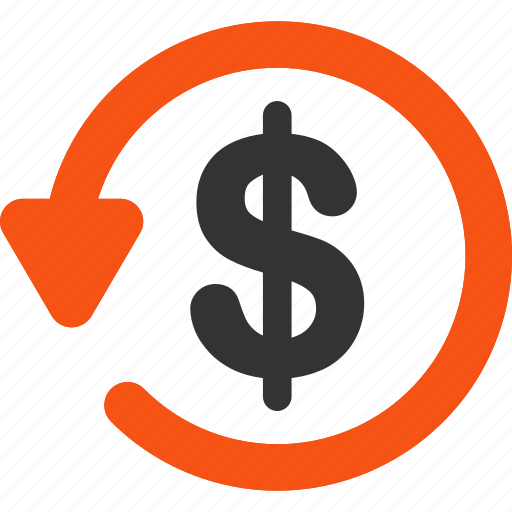 chargeback, pay back, refund, restore, reverse, revert, rollback icon