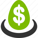 currency, deposit, dollar, finance, financial, funds, invest icon