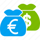 currency, finance, financial, funds, invest, money bag, payment icon