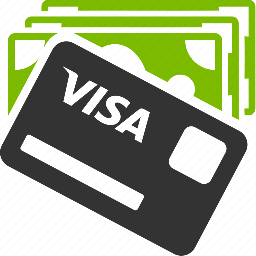 banking, finance, financial, money, payment, shopping, visa card icon