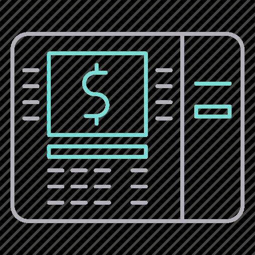 atm, banking, machine, money icon