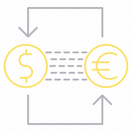 banking, currency, exchange icon