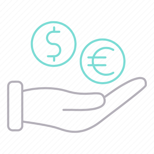 banking, currency, funding, hand, savings icon