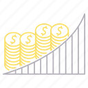 banking, chart, growth, money icon