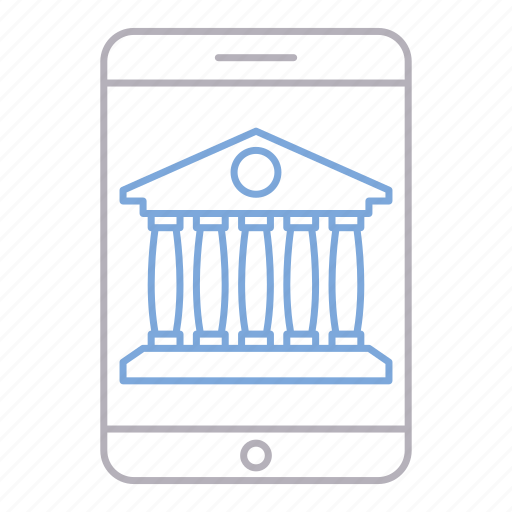 banking, device, mobile, online icon