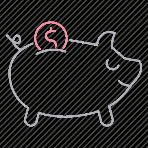 Banking, savings, piggy, bank icon