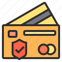 banking, business, card, credit, finance, payment, protection icon