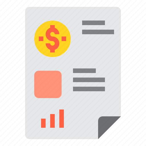 bank, banking, business, document, finance, payment icon