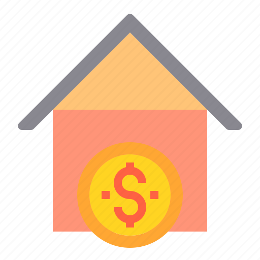 banking, business, finance, house, loan, payment icon