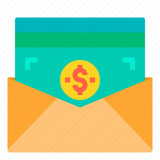 banking, business, finance, letter, money, payment icon