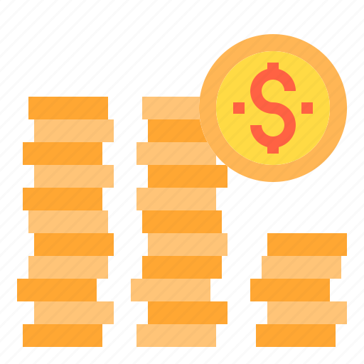 banking, business, coins, finance, money, payment icon
