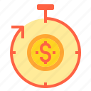banking, business, finance, money, payment, time icon