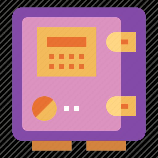bank, banking, box, safe, savings icon