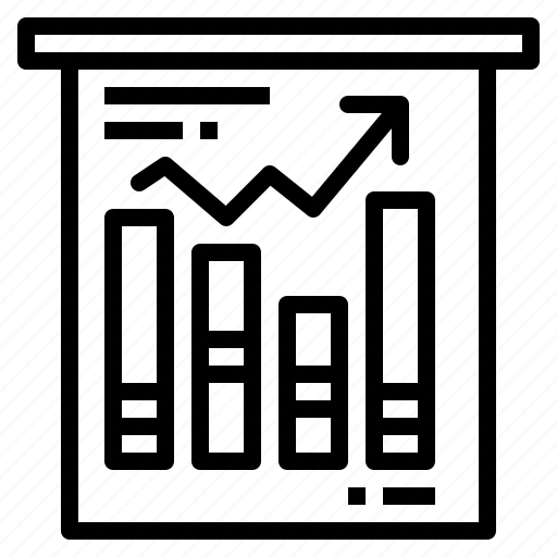 chart, diagram, growth, report icon