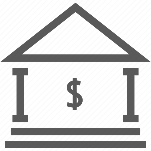 bank, building, business, dollar, financial, funance, real estate icon