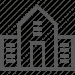 bank, building, school icon